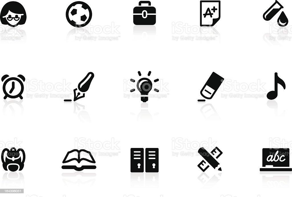 School icons 1 royalty-free stock vector art