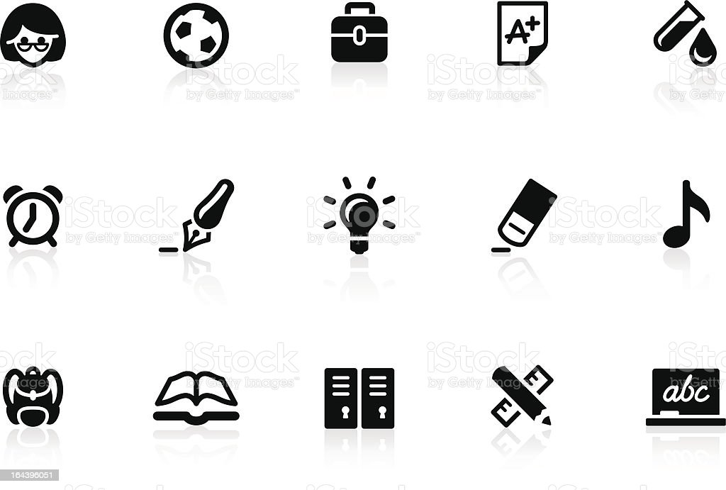 School icons 1 vector art illustration