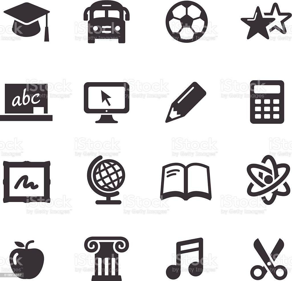 School Icons - Acme Series vector art illustration