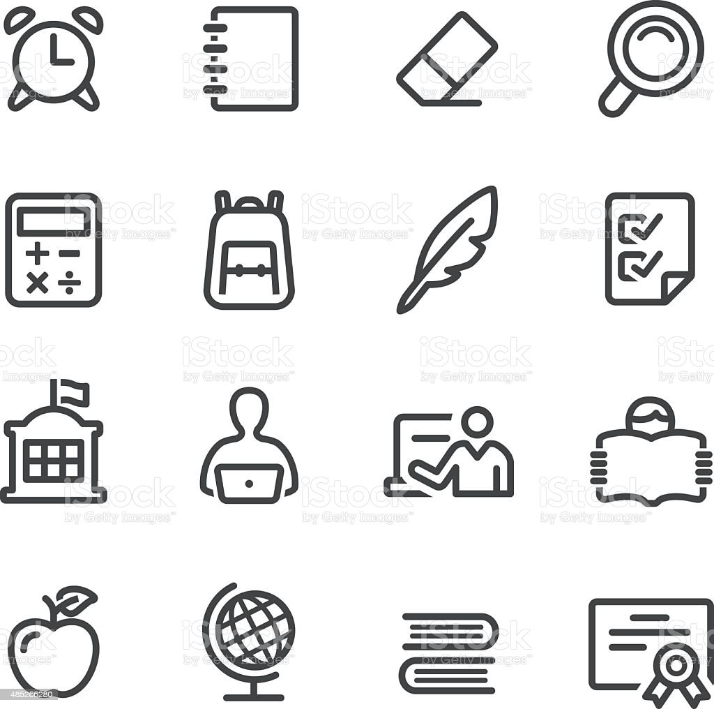 School Icons - Line Series vector art illustration