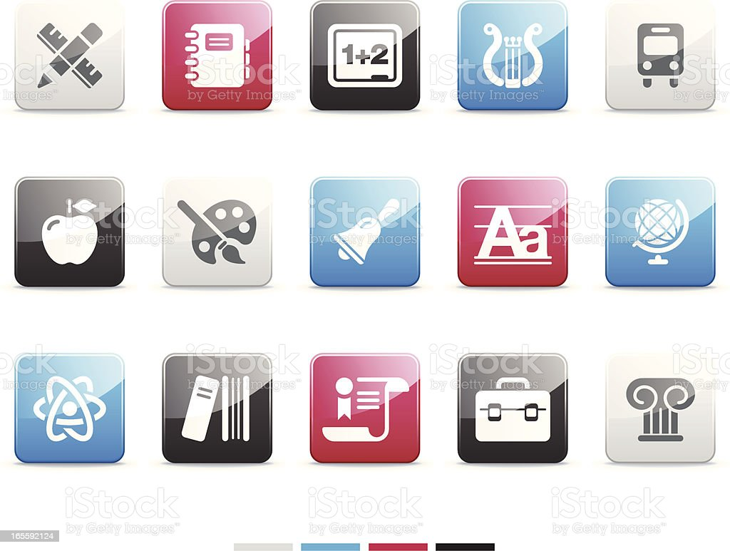 School icons | Senso series royalty-free stock vector art