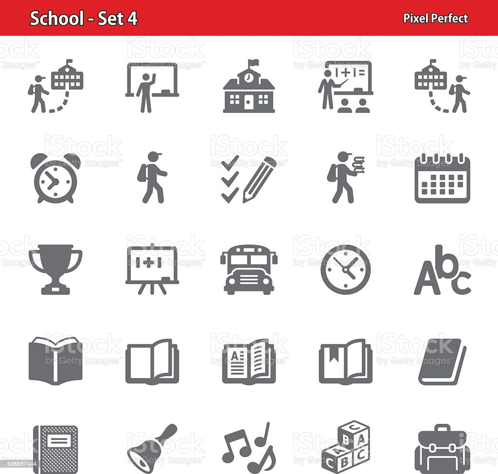 School Icons - Set 4 vector art illustration