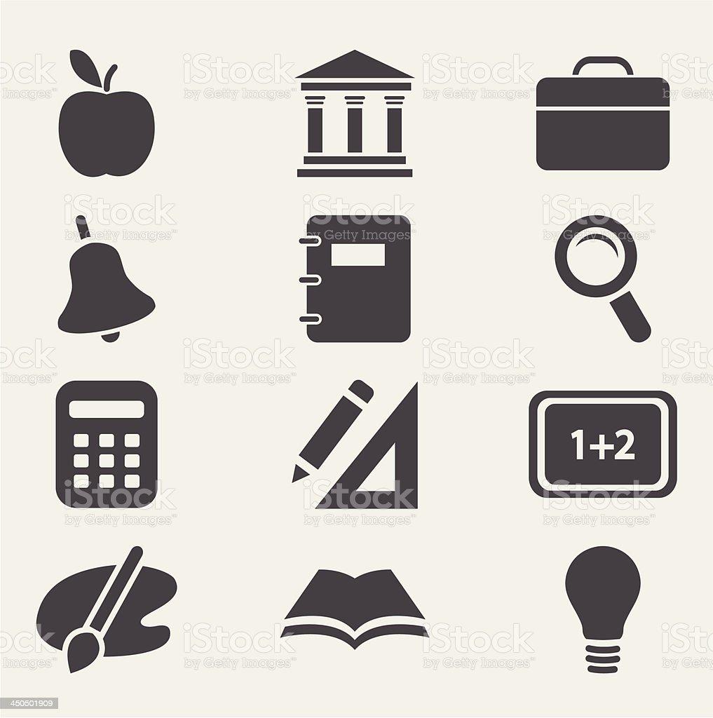 School icons set.Vector royalty-free stock vector art