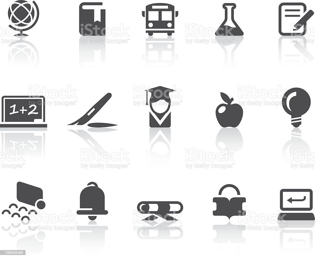 School Icons | Simple Black Series royalty-free stock vector art