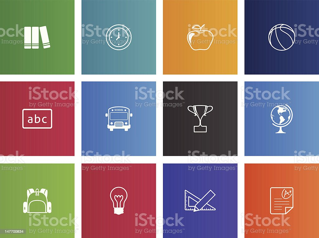School Icons royalty-free stock vector art