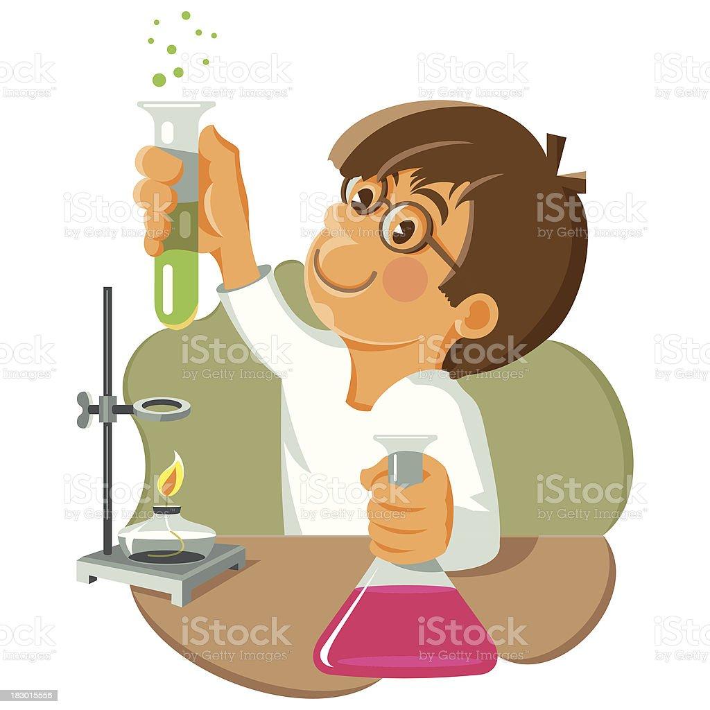 school laboratory work in chemistry royalty-free stock vector art
