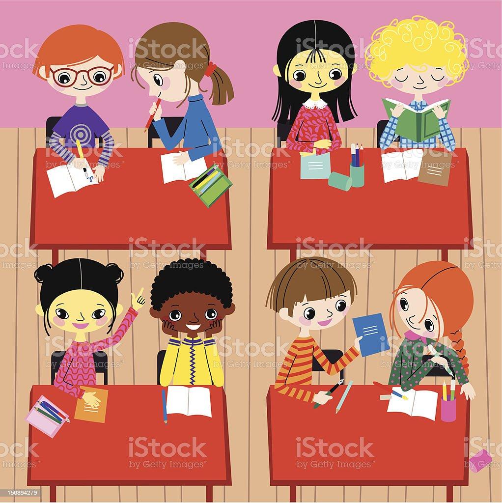 School Life. vector art illustration