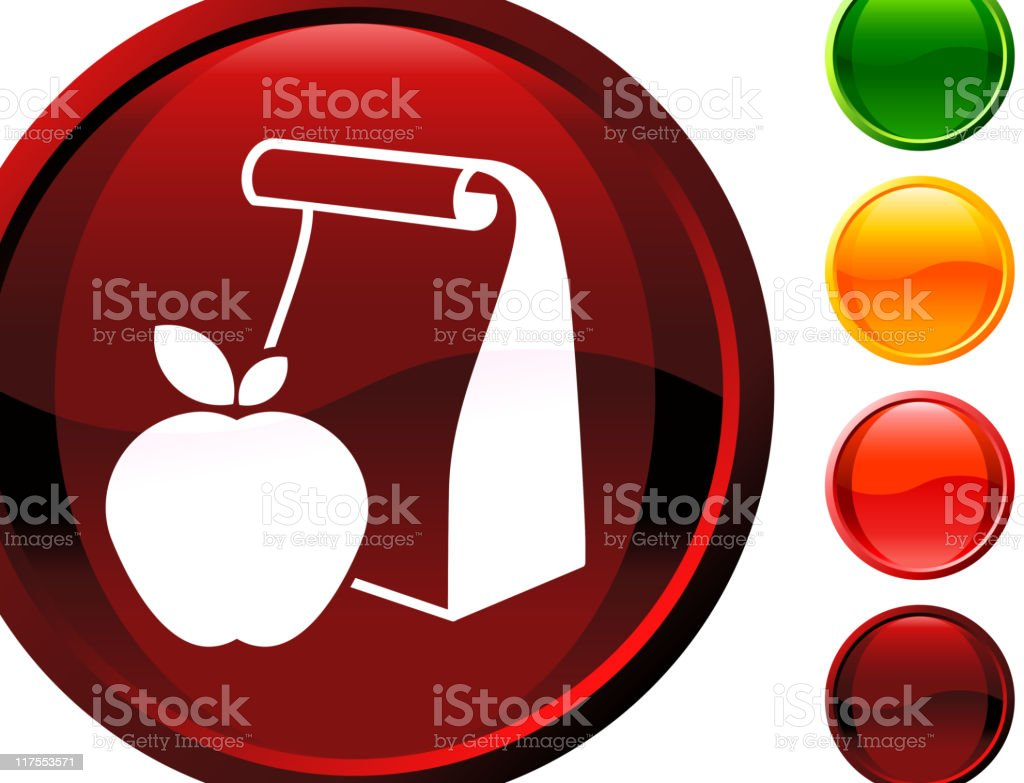 school lunch bag with apple internet royalty free vector art royalty-free stock vector art