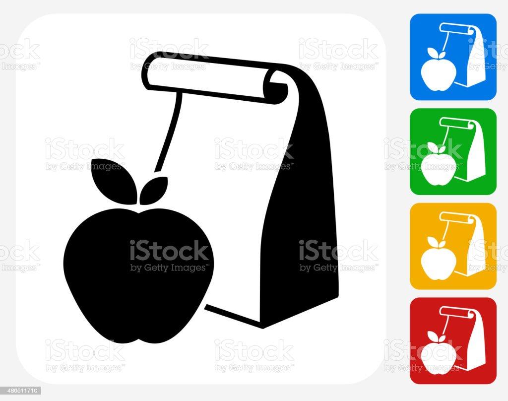 School Lunch Icon Flat Graphic Design vector art illustration