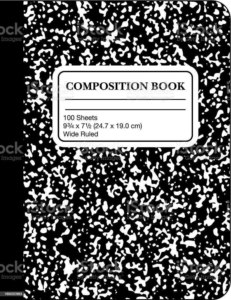 School Marble Composition Book (vector & jpg) vector art illustration