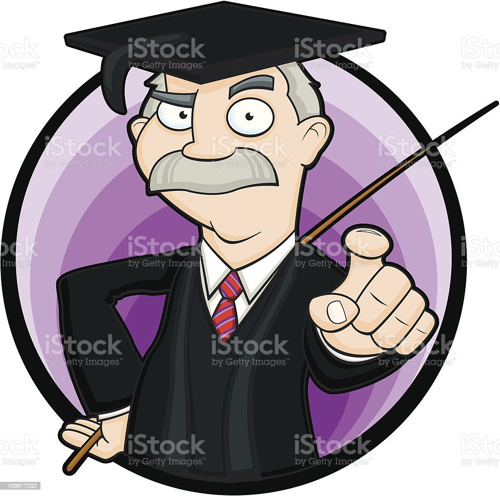 School Master Point and Cane royalty-free stock vector art