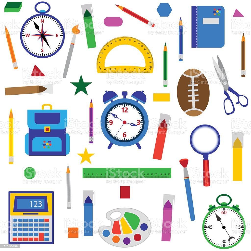 School objects seamless background illustracion libre de derechos libre de derechos