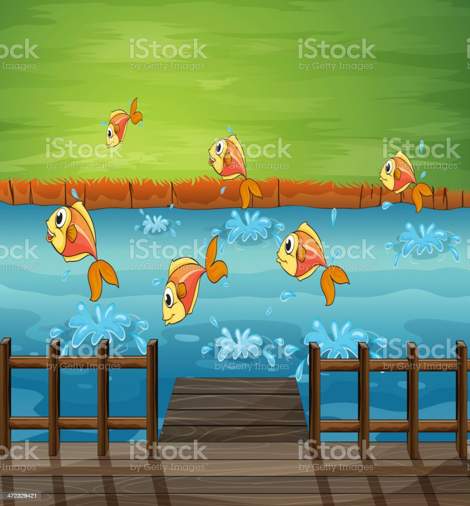 School of fish royalty-free stock vector art