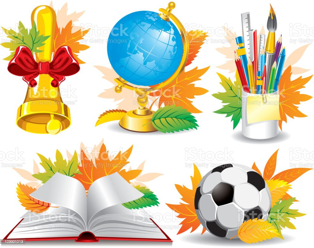 School picture collection royalty-free stock vector art