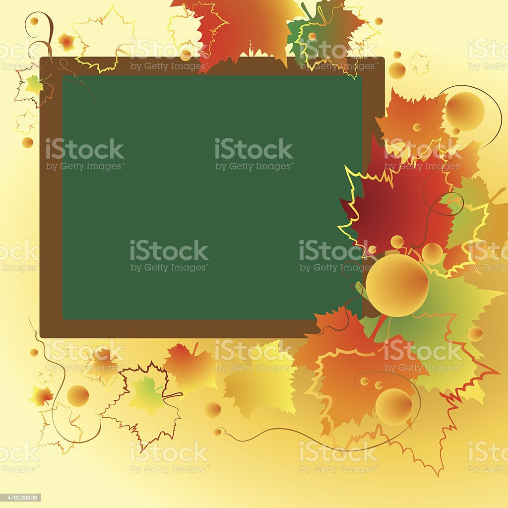 school postcard royalty-free stock vector art
