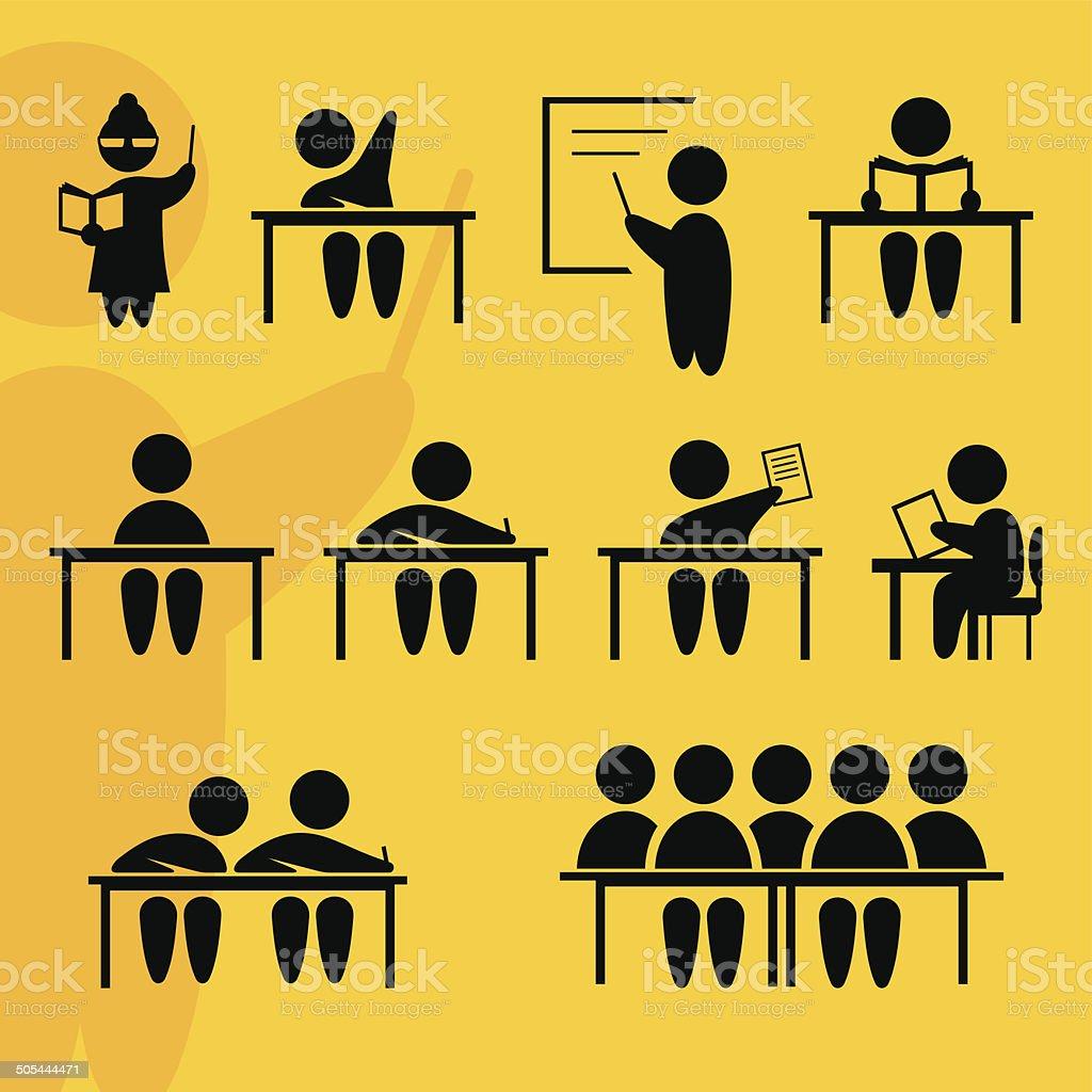School signs vector art illustration