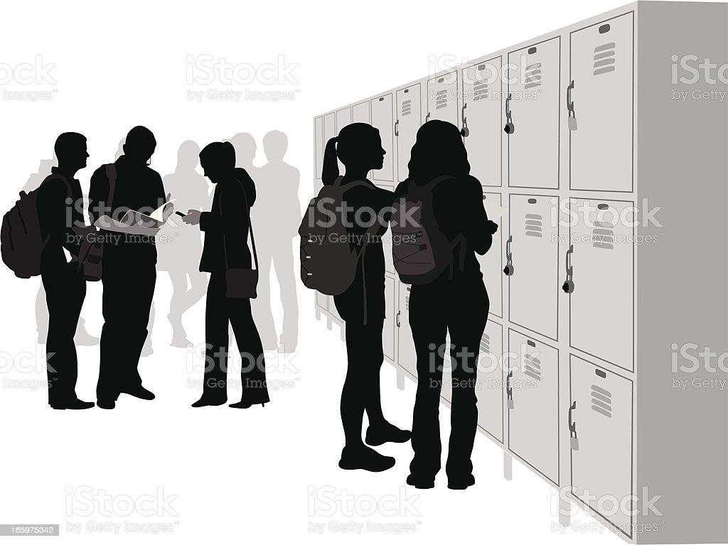 School Social Vector Silhouette vector art illustration