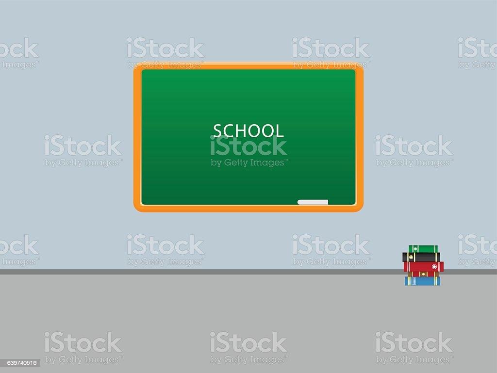 School start vector art illustration
