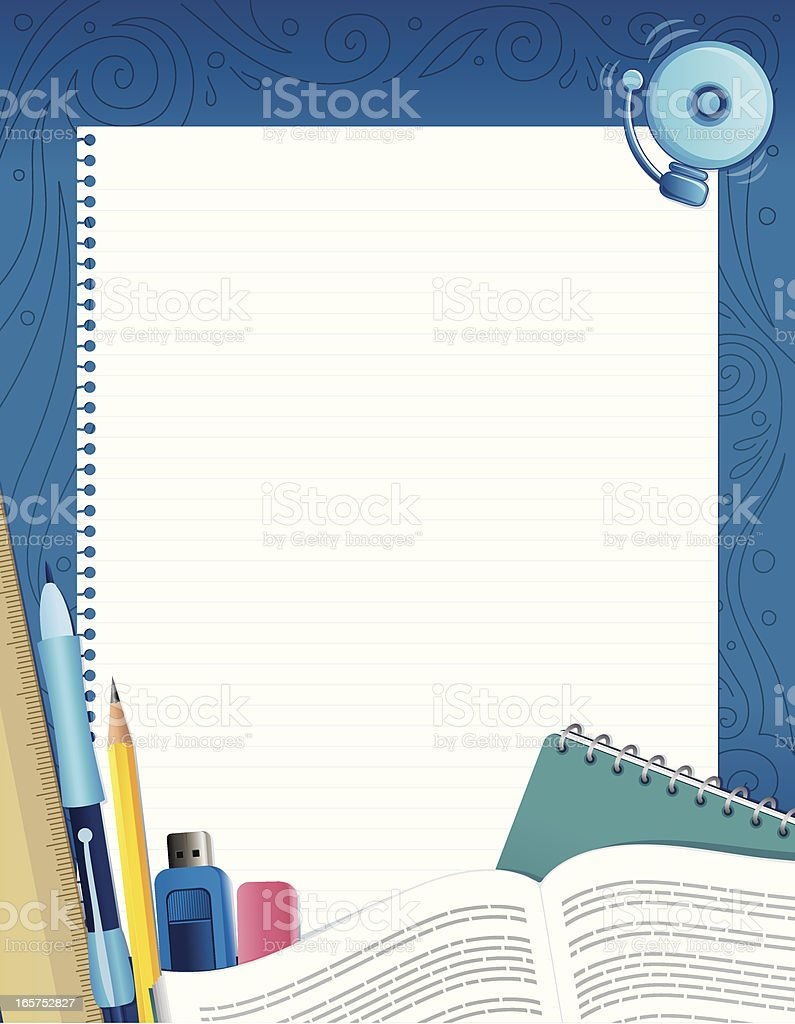 School Supplies Background royalty-free stock vector art