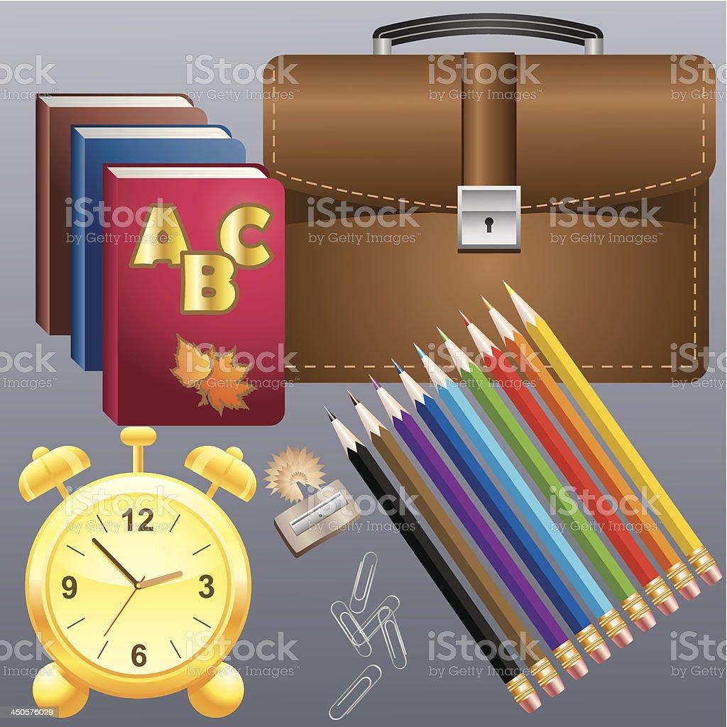 School supplies royalty-free stock vector art