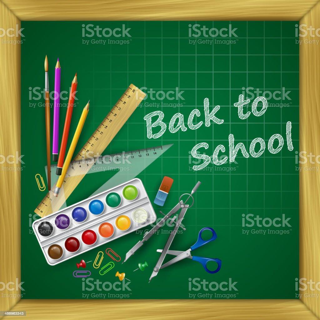 School supplies. Vector illustration royalty-free stock vector art