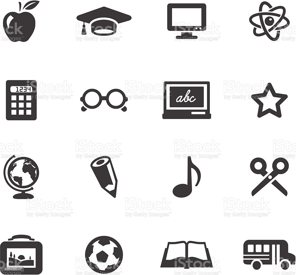 School Symbols vector art illustration