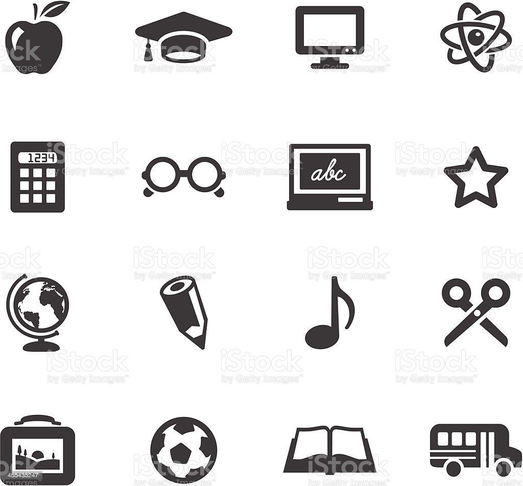 School Symbols vector art illustration