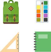 School symbols vector set.
