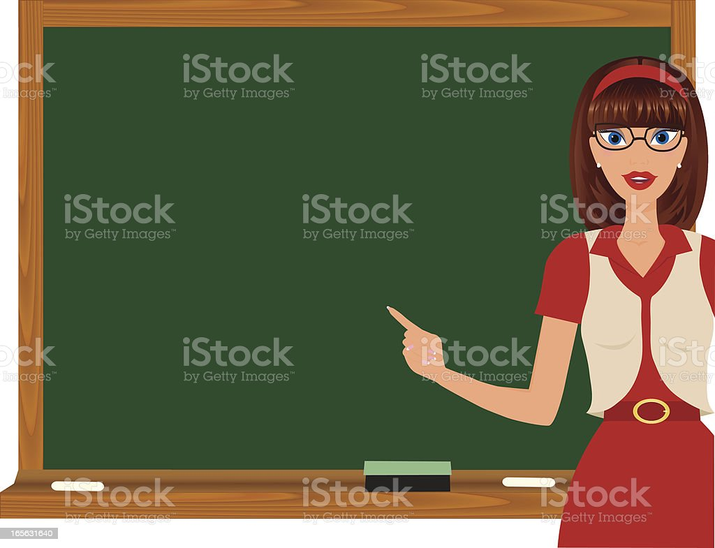 School Teacher royalty-free stock vector art