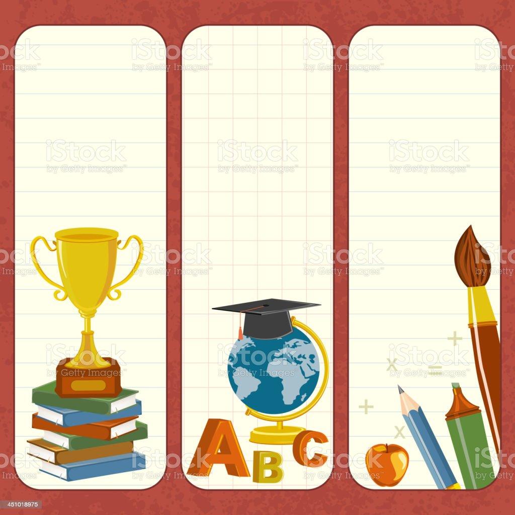School Template royalty-free stock vector art