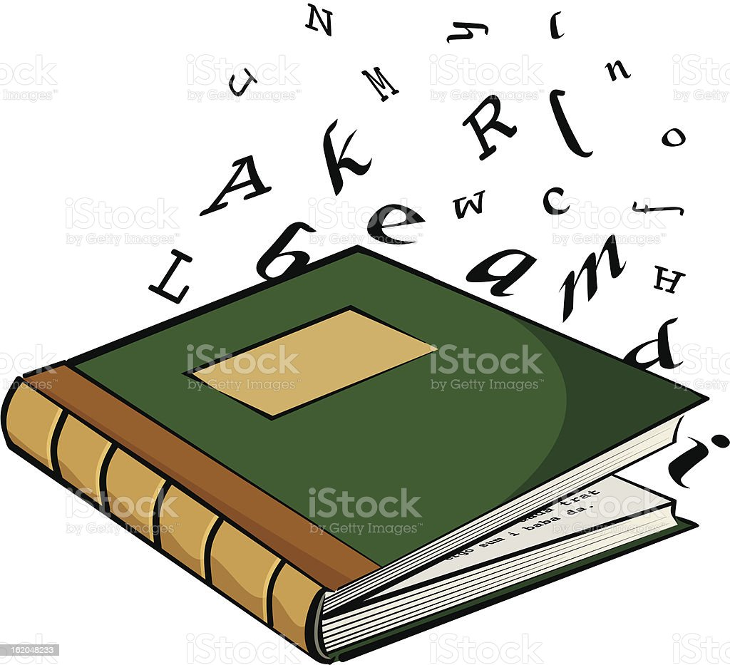 school textbook - the letters royalty-free stock vector art