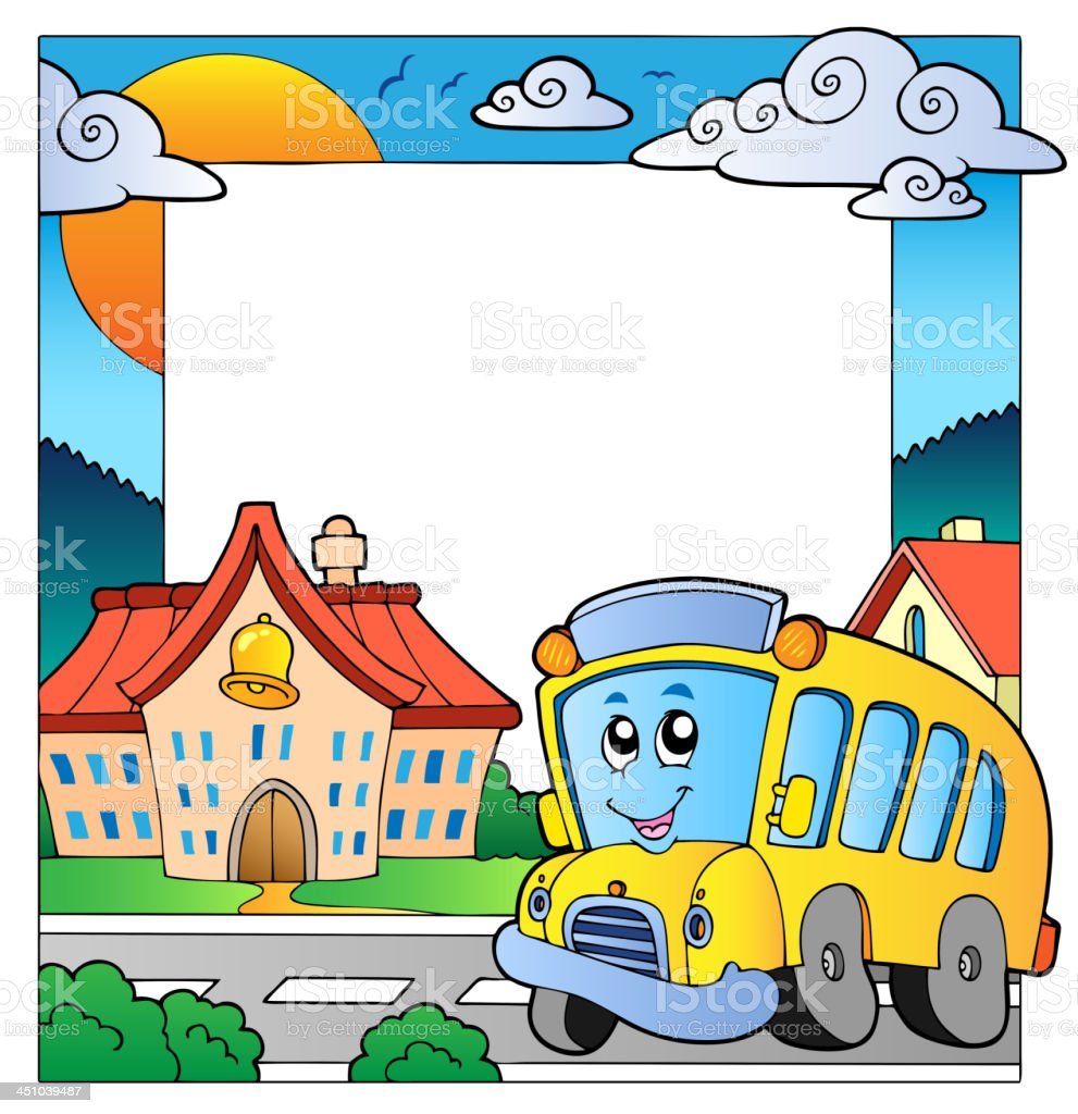 School theme frame 5 royalty-free stock vector art