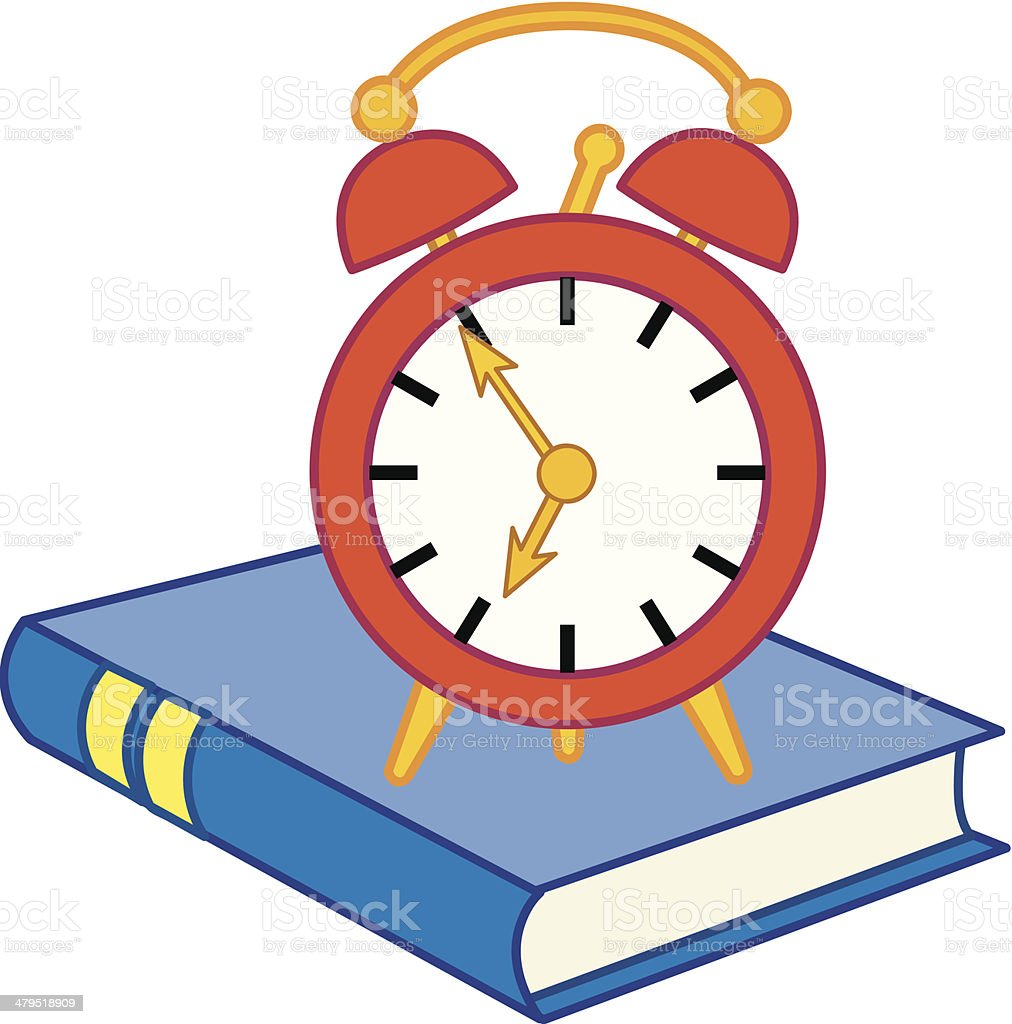 School - time to wake up! royalty-free stock vector art