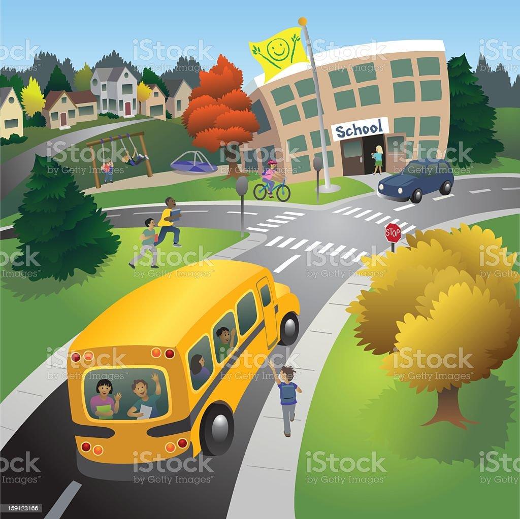 School Time vector art illustration