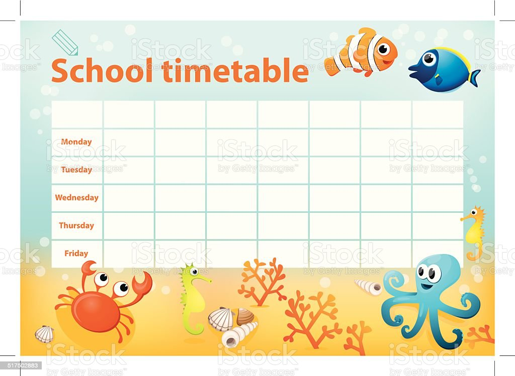 cute timetable