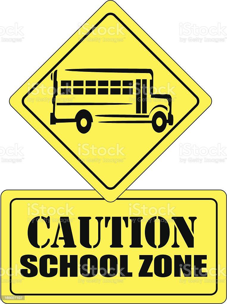 School Zone (vector) royalty-free stock vector art