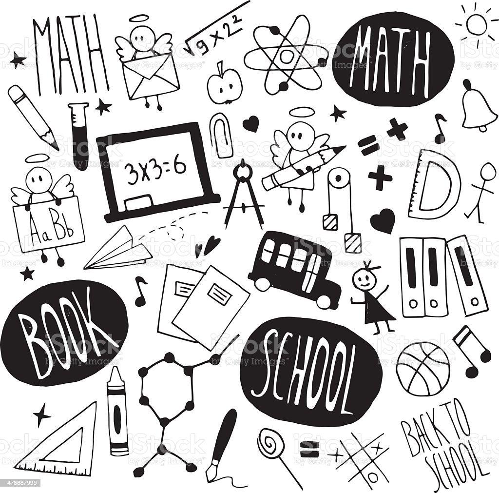 School_doodles vector art illustration