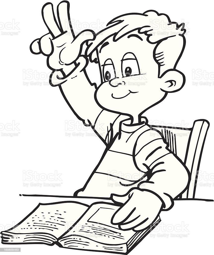 Schoolboy royalty-free stock vector art