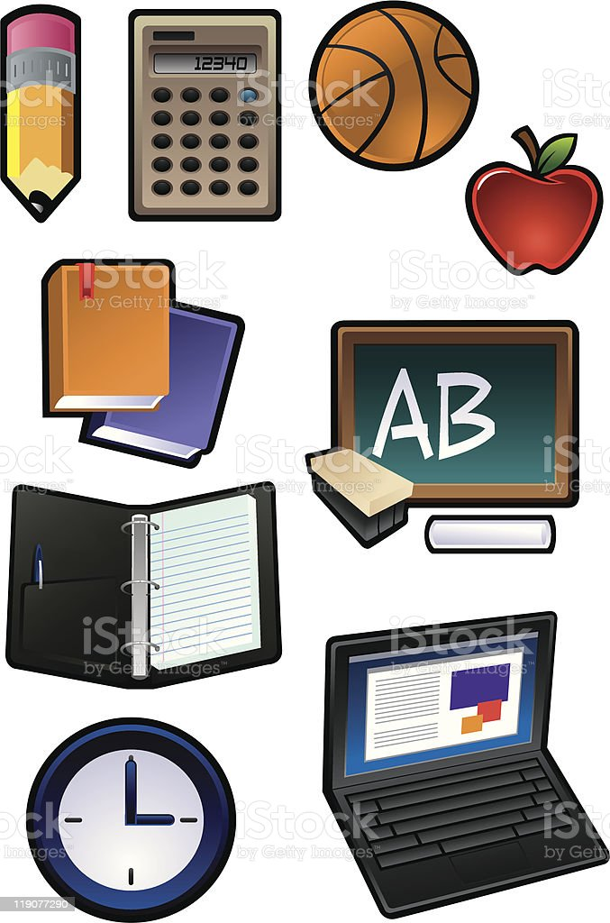 School/Classroom supplies royalty-free stock vector art