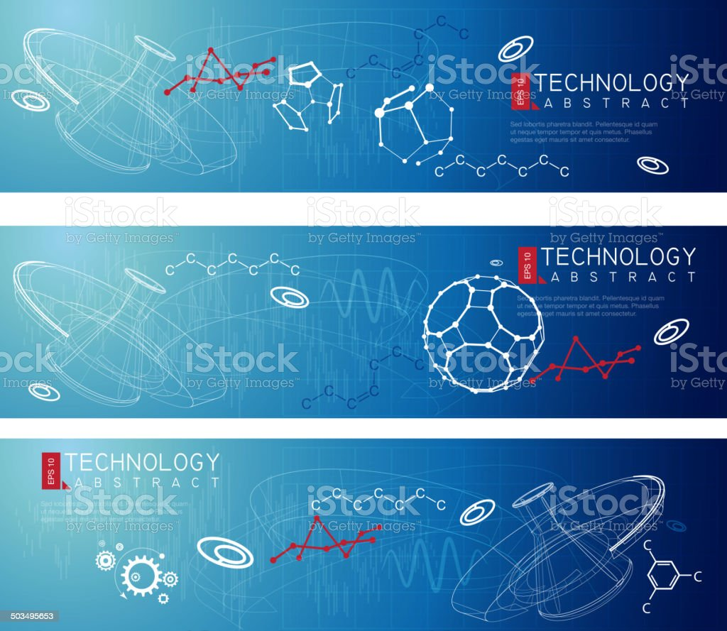 Science Abstract Banner vector art illustration
