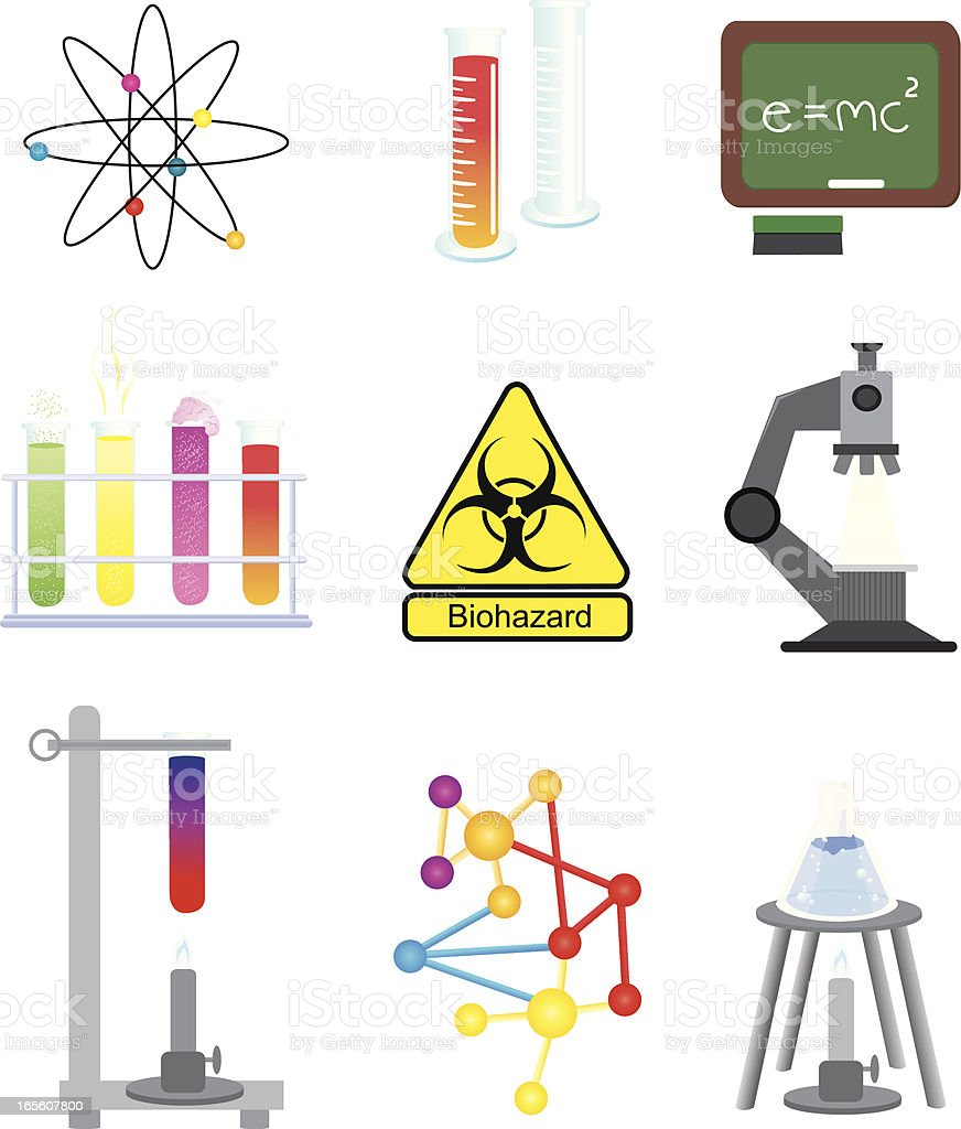 Science and Chemistry Elements royalty-free stock vector art