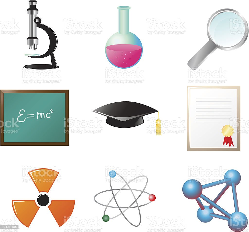 Science and education icon vector art illustration