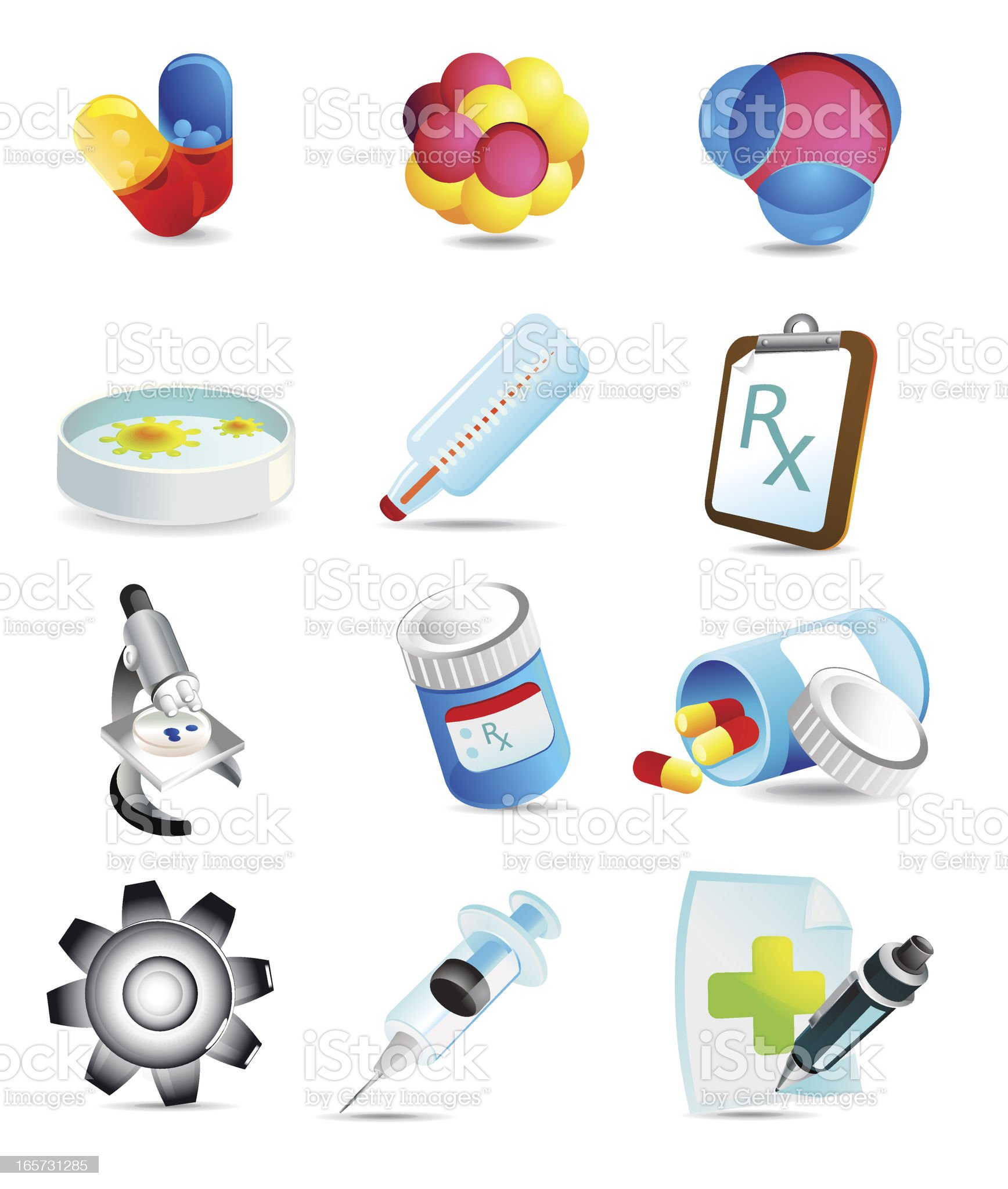 science and medicine icons royalty-free stock vector art