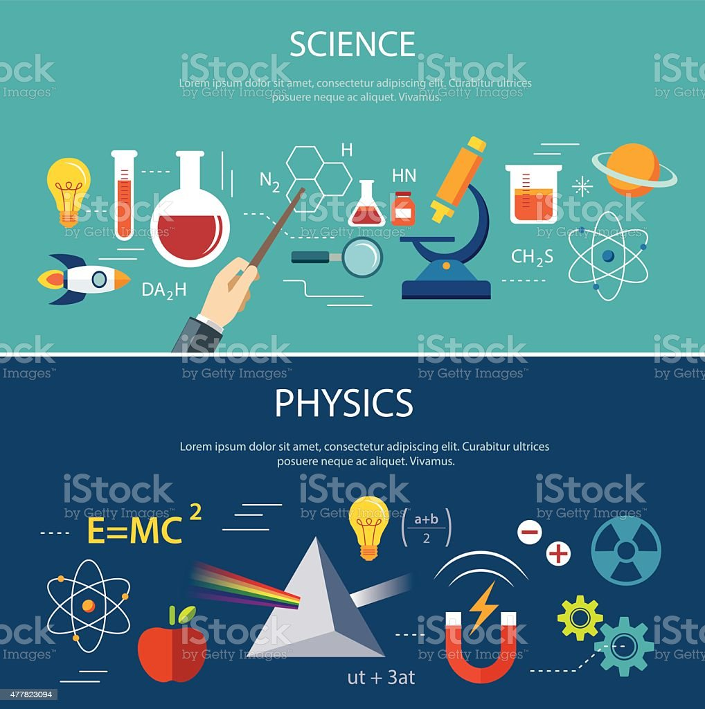 science and physics education concept vector art illustration