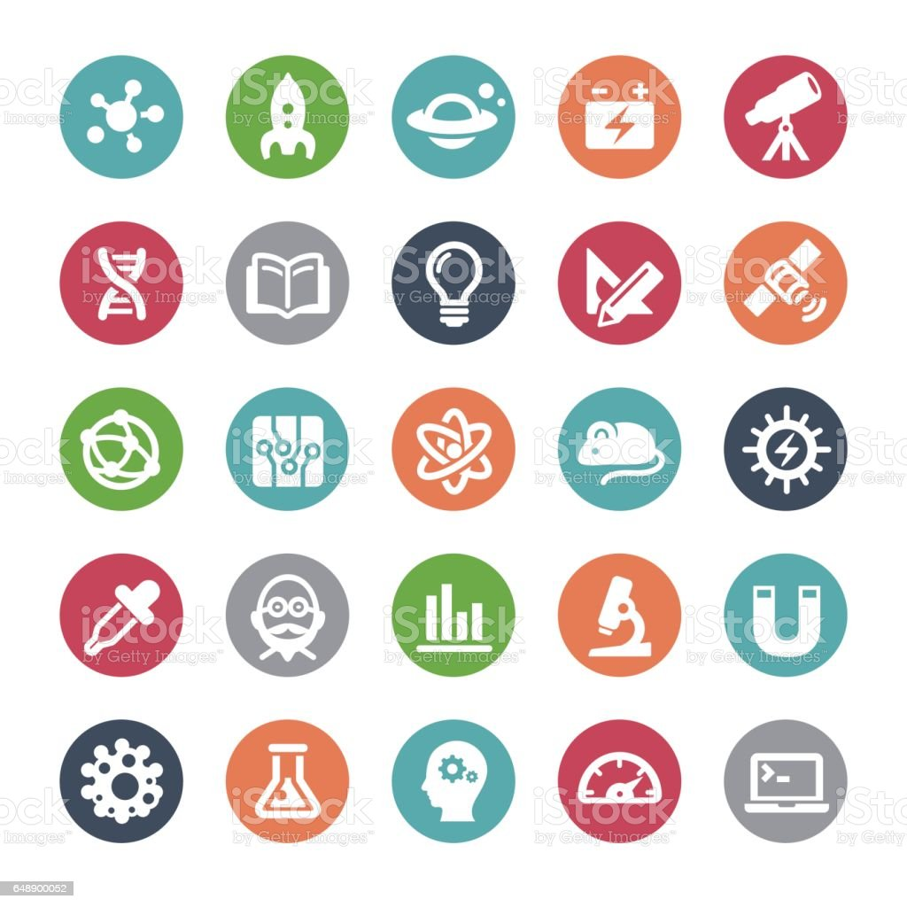 Science and Research Icons - Bijou Series vector art illustration