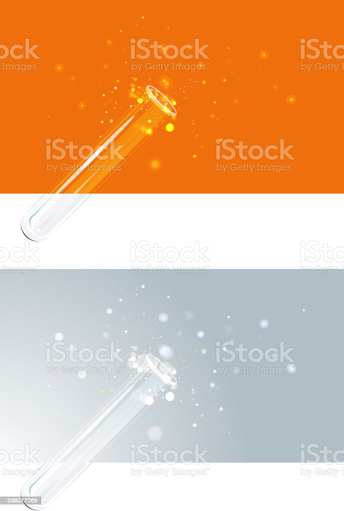 Science Backdrop - Test tube vector art illustration