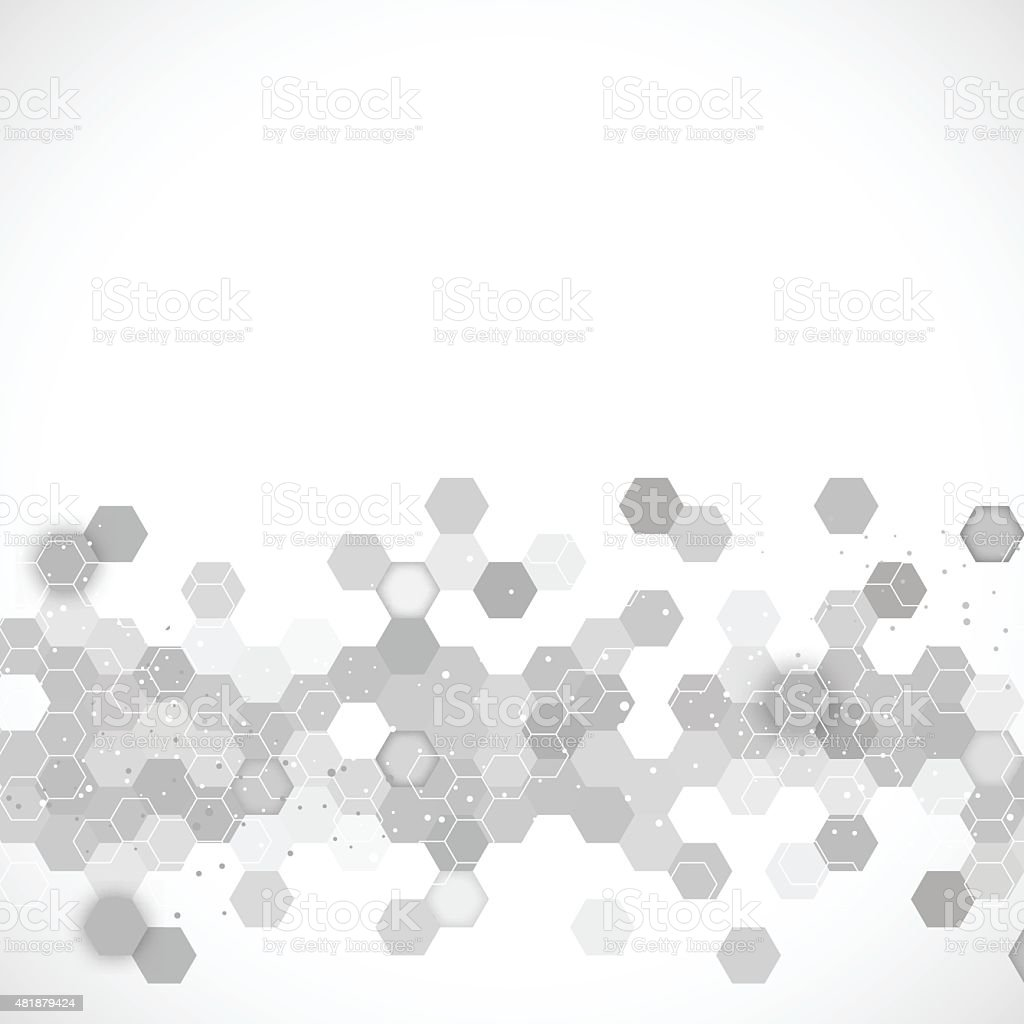 Science background vector art illustration