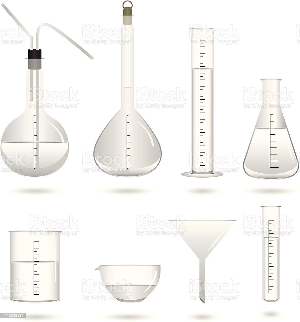 Science Chemical Lab Equipment Vector royalty-free stock vector art