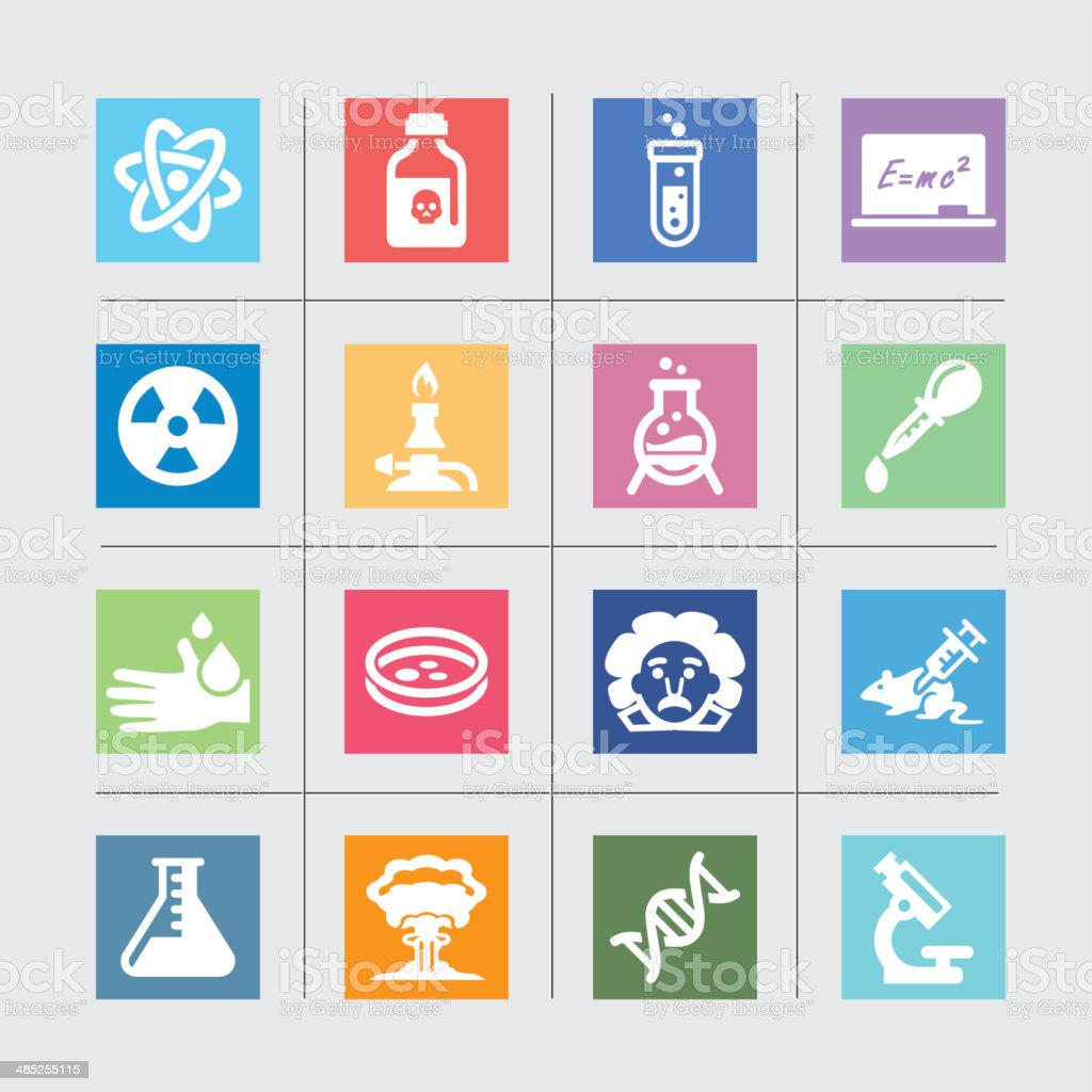 Science Color harmony Icons l EPS 10 vector art illustration