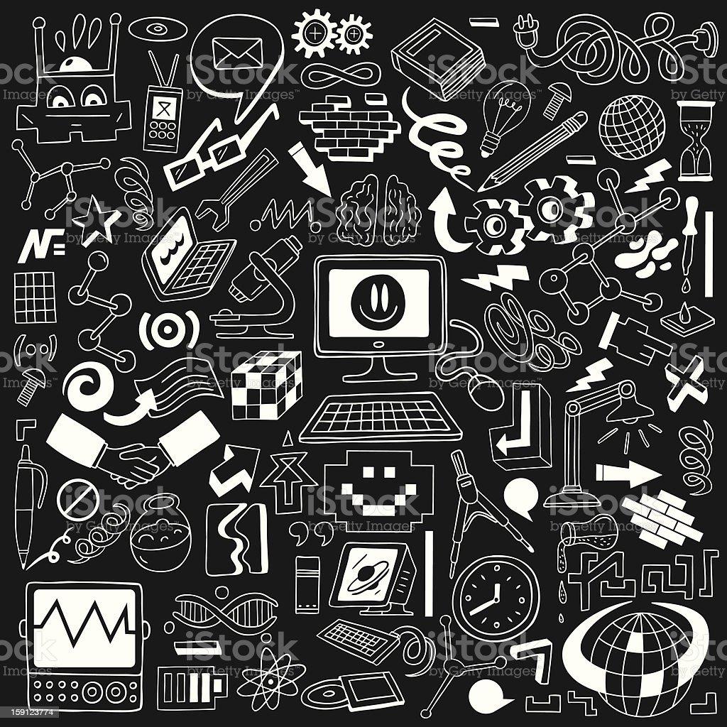 Science - doodles set royalty-free stock vector art
